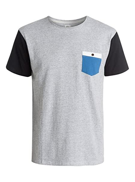 Quiksilver Bay Sic - Camiseta - Hombre - XS - Gris: Amazon.es: Ropa y accesorios
