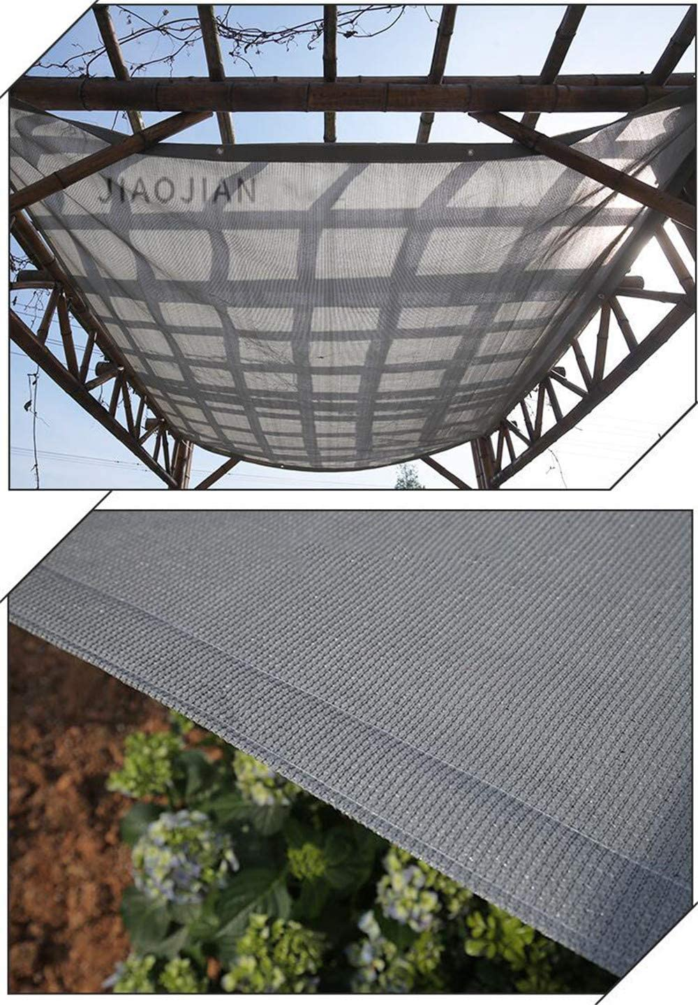 Sunshade Net Sunscreen,Tela Gris 180 HDPE De gsm hasta 95/% De Bloqueo De Malla De Malla Resistente A Los Rayos UV,para Jard/ín Exterior Patio Jard/ín Planta Granero Invernadero,1/×1m