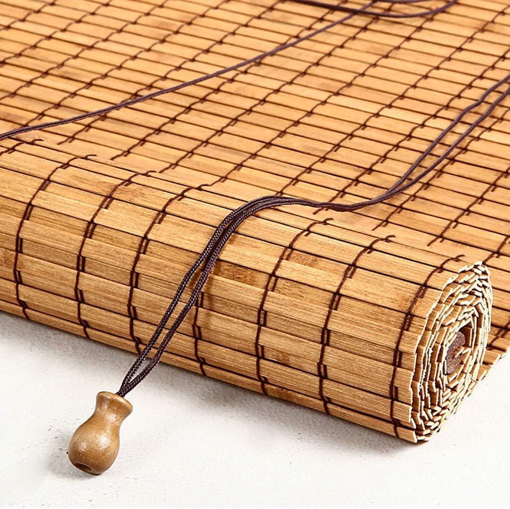 Stores enrouleurs ZLI Store Ext/érieur /à Enrouleur avec Crochets Stores en Bambou de 80cm// 90cm// 100cm// 120cm// 140cm de Largeur Filtre Solaire /à 90/% Size : 50/×80cm