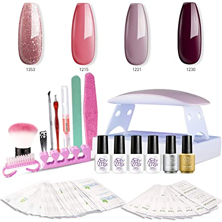 SEXY Mix Gel Nail Polish Kit with UV LED Light
