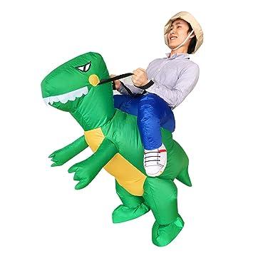 Traje de Halloween para adultos inflables Ride Dinosaur T ...