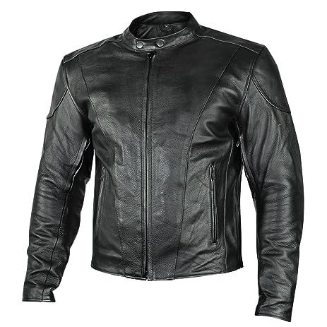 Amazon Com Xelement B7209 Renegade Mens Black Leather Motorcycle