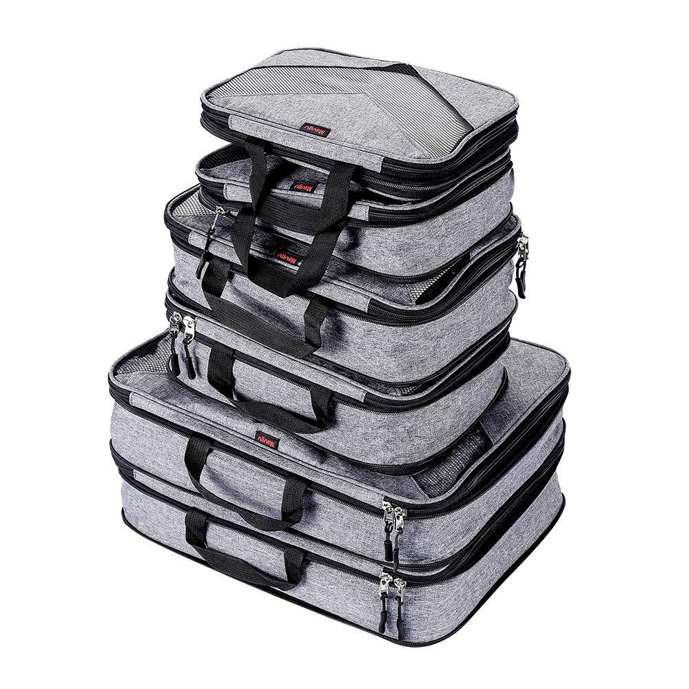 Compression Packing Cubes Travel Luggage Suitcase Organizer 6 Set