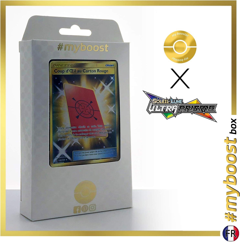 Coup dŒil au Carton Rouge 169/156 Dresseur Secrète - #myboost X Soleil & Lune 5 Ultra-Prisme - Coffret de 10 Cartes Pokémon Françaises: Amazon.es: Juguetes y juegos