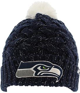47 Brand Women s Fiona Beanie Hat with POM POM - NFL Ladies Cuffed Crochet  Knit.   966b68f1b86a