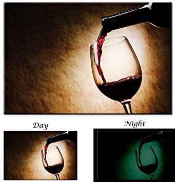 amazon com picture sensations red wine pouring into glass wine art