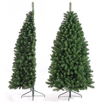 2.1m (7ft) Half Tree Artificial Christmas Tree: Amazon.co.uk ...