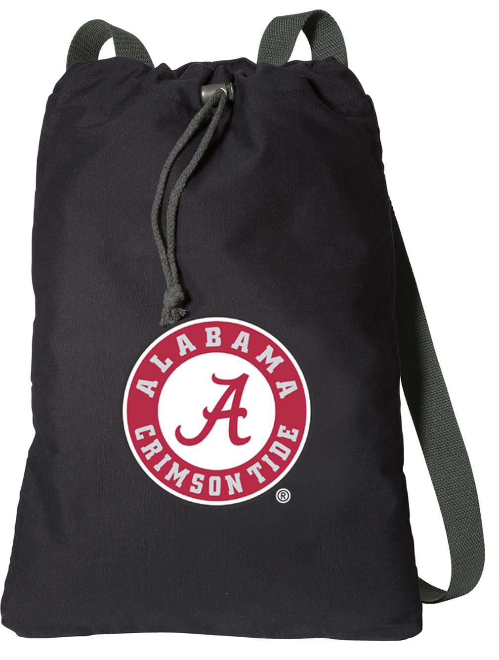 Broad Bay Alabama DrawstringバックパックリッチキャンバスAlabama Cinch Bag B07C47Q9GD