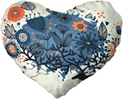 Welcomeuni New Christmas Heart Shaped Pillow Case Cushion Covers Sofa Bed Home Decorate (C)
