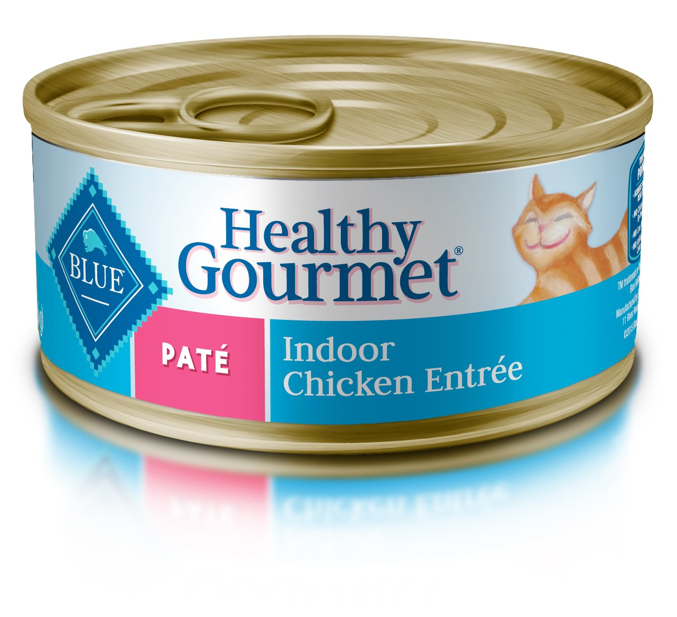 Blue Buffalo Healthy Gourmet Natural Adult Pate Wet Cat Food, Indoor Chicken 5.5-oz cans (Pack of 24) by Blue Buffalo