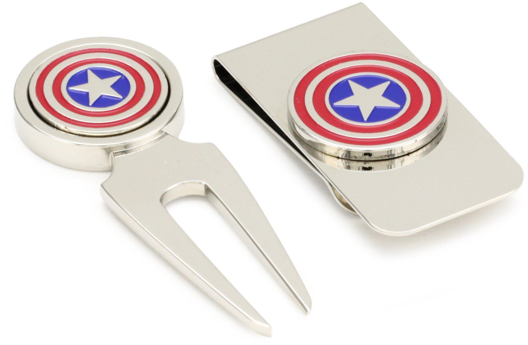 Marvel Comics Capt America Golf Divot and Money Clip Box Set