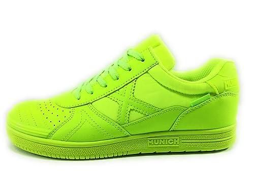 Munich G3 Velcro Zapatillas niño fútbol Sala (37 EU, Amarilla): Amazon.es: Zapatos y complementos