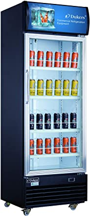 Dukers LG-430 15.1 cu. ft. Commercial Display Cooler Merchandiser Refrigerator