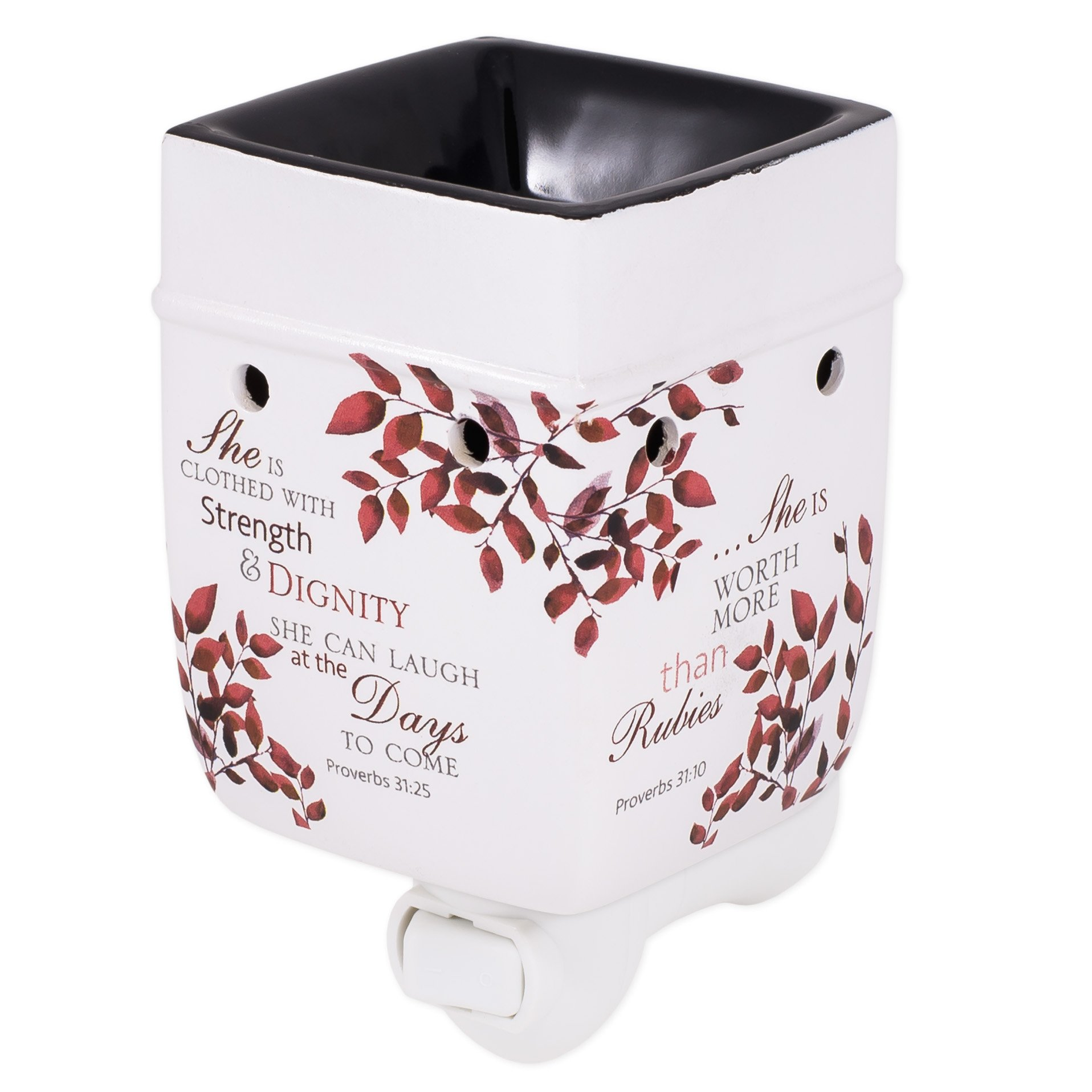 Elanze Designs She is More Precious Than Rubies Proverbs 31 Woman Electric Plug-in Outlet Wax and Oil Warmer