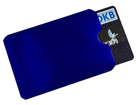 NFC Blocker RFID Schutzhülle Blau Soft EC Kartenhülle Kreditkarten Ausweis Perso