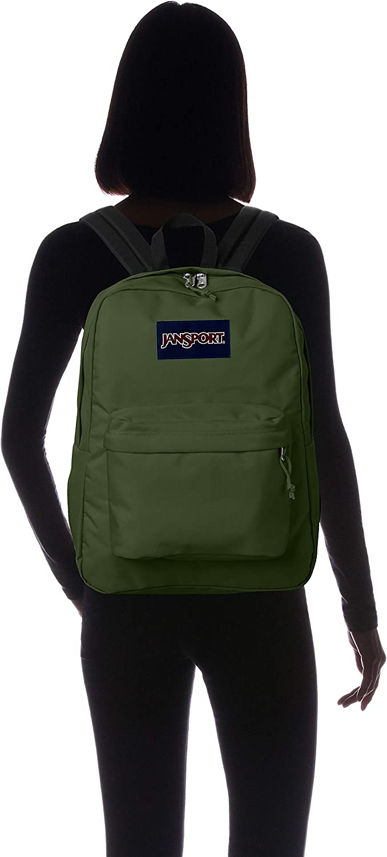 Green JanSport Superbreak Backpack