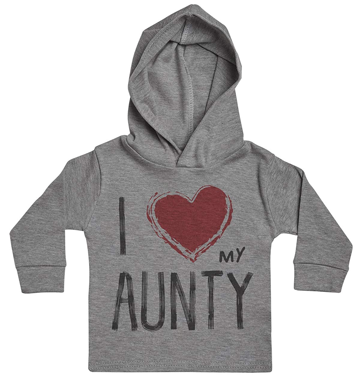 Baby Gift Baby Girl Hoody I Love My Aunty Red Heart Baby Boy Hoody Baby Hoody Baby Clothing