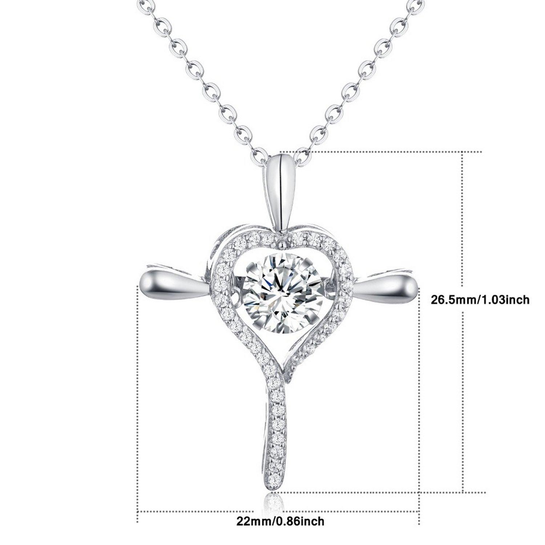 CS-DB Pendants Cross Love Colar Silver Necklaces
