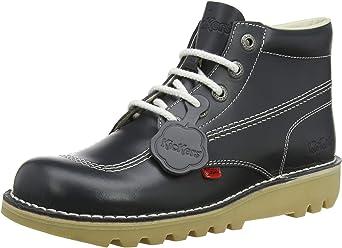 Kickers Mens Kick Hi Core Navy Natural Leather Boots 3dd7f2fd6f26
