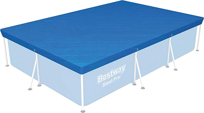 A 13 X 7FT RECTANGLE POOL ELASTICATED STRAP-COVER NOT INCLUDED.