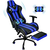 Racing Style PC Computer Chair,Computer Gaming Chair, E-Sports Chair,Ergonomic Office Chair with Height Adjustment,Retractabl