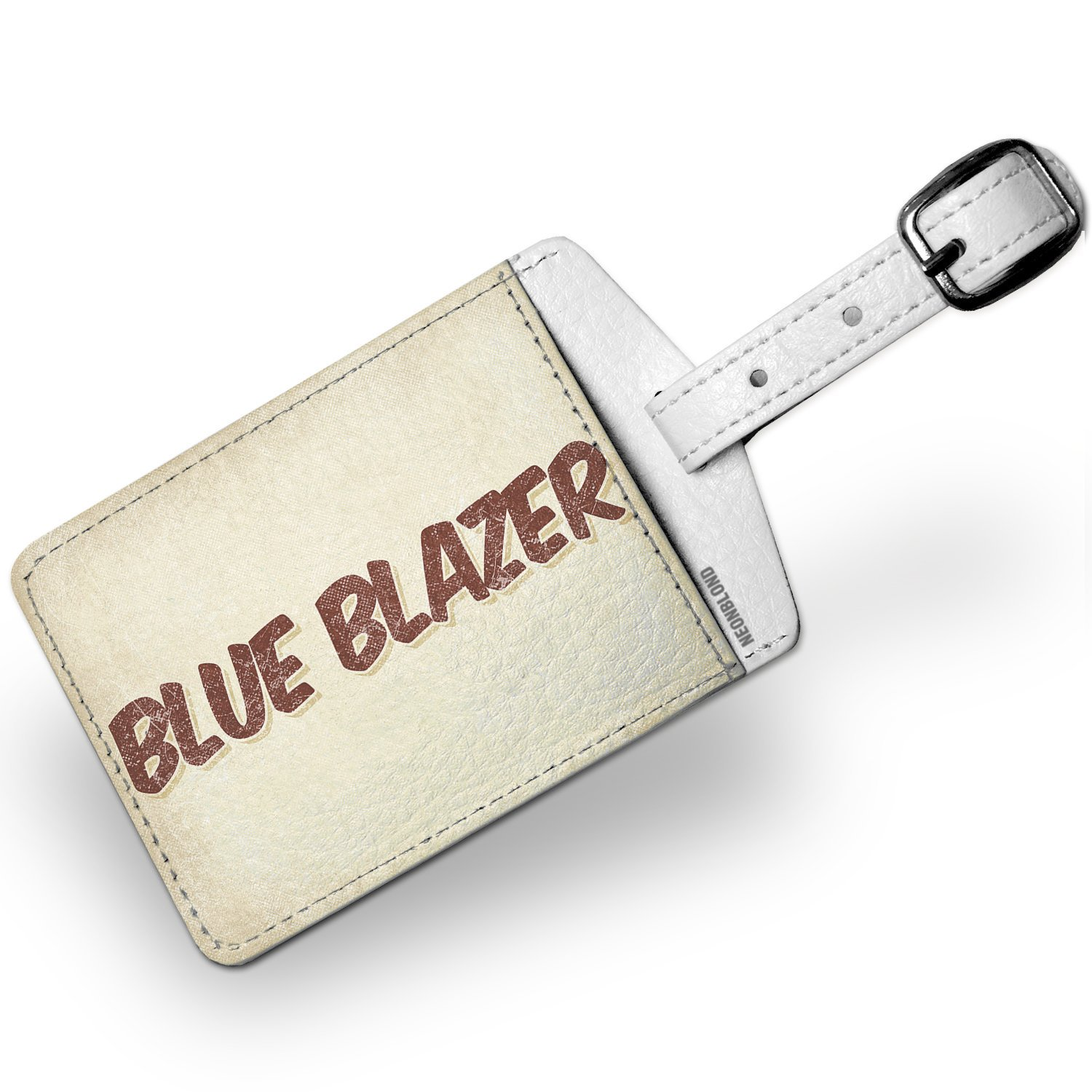 Luggage Tag Blue Blazer Cocktail, Vintage style - NEONBLOND