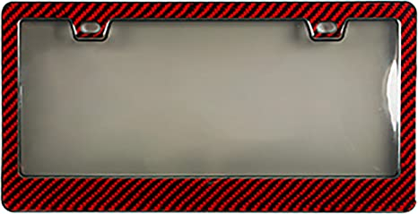 Rust-Proof Silicone License Plate Holder Compatible for All Car Red BLVD-LPF OBEY YOUR LUXURY Silicone License Plate Frame with Patented Design Weather-Proof Rattle-Proof