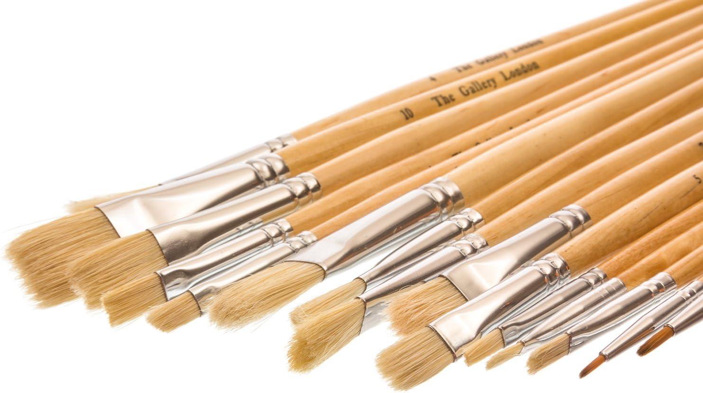 For Oil /& Acrylic Paint Curtisward Super Hog Artists Value 5 Brush Set