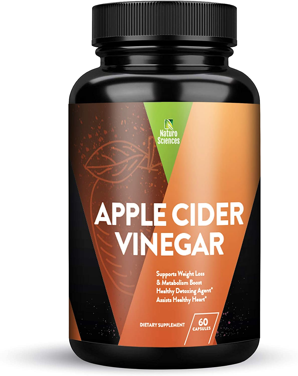 Apple Cider Vinegar Capsules, Detox and Colon Cleanse, Herbal Appetite Suppressant and Metabolism Booster Supports Natural Weight Management by Naturo Sciences