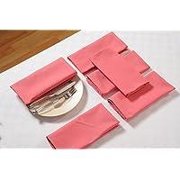 Swayam Libra Solid 6 Piece Cotton Dinner Napkins - Rose