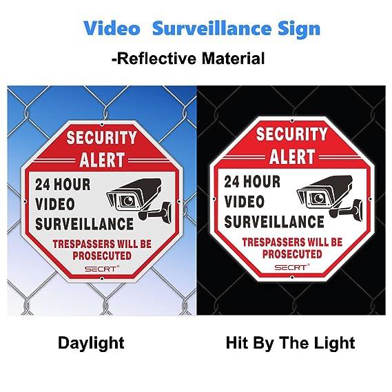 2 unidades de señales de vigilancia de vídeo Secrt, alerta ...