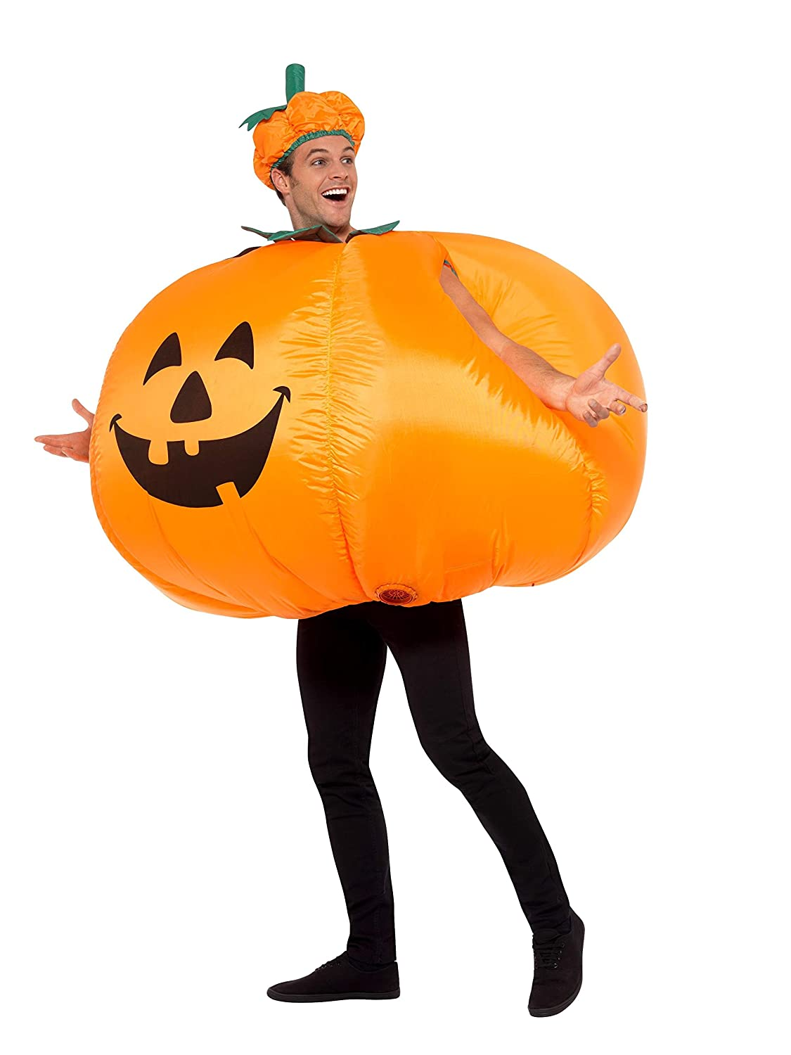 Adults Pumpkin Outfit Halloween Inflatable Fancy Dress Cosplay Party Costume UK