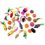 Hipetz Cat toys Variety Pack for Kitty 25 pieces