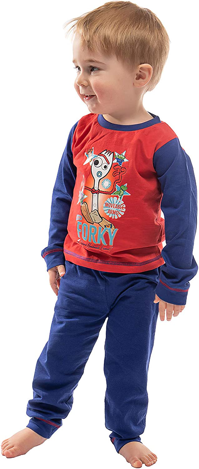 Toddlers Buzz Lightyear and Forky 100/% Cotton Kids Nightwear | PJ Set with Long Sleeve Top and Full Leggings Disney Toy Story 4 Boys Pyjamas with Woody Great PJ for Children