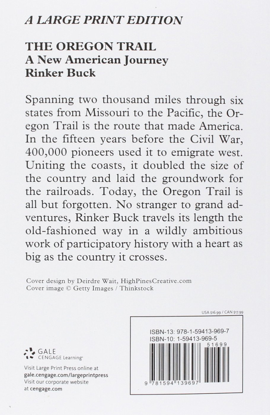 The Oregon Trail: A New American Journey (thorndike Press Large Print Books  Popular And Narrative Nonfiction): Rinker Buck: 9781594139697: Amazon:  Books