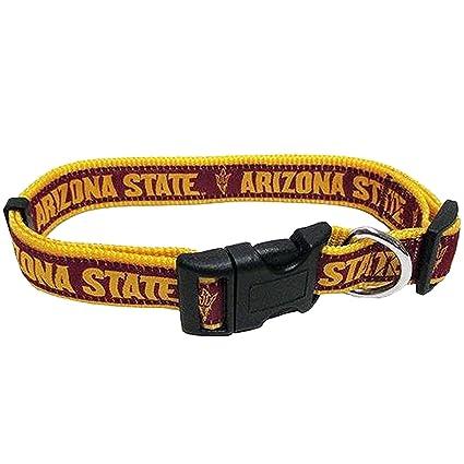 size 40 6d333 78427 Pets First Collegiate Pet Accessories, Dog Collar, Arizona State Sun  Devils, Large