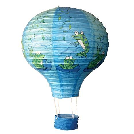 6916 - 35 cm globo de papel ranas diseño techo lámpara de ...