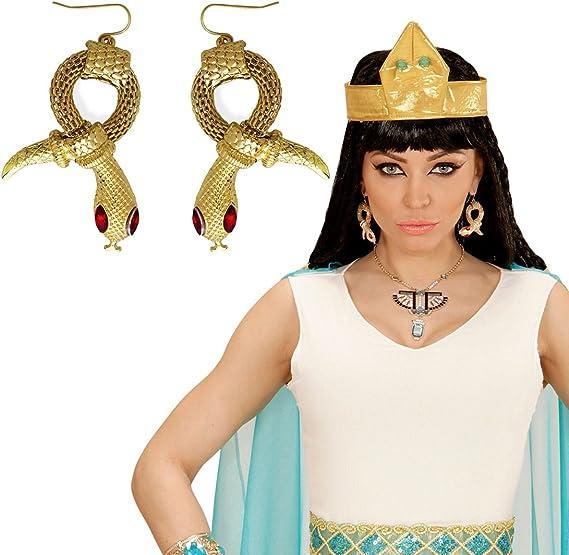 Amakando Aros Cleopatra Pendientes de Serpiente faraona Joyas Reina egipcia Accesorio Disfraz Mujer Clips Orejas egipcios Bisutería de Diosa de la antigüedad: Amazon.es: Juguetes y juegos