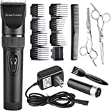 Eachway Quiet Professional Hair Clippers Cordless Rechargeable Hair Trimmer Haircut Kit with 8 Guide Combs for Adults and children Babies