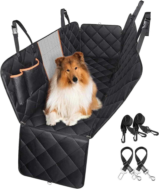 Omorc Hundedecke Autoschondecke Hundedecke Auto Wasserdichte Rückbank Rutschfeste Mit Sicherheitsgurt Sichtfenster Für Auto Van Suv Haustier