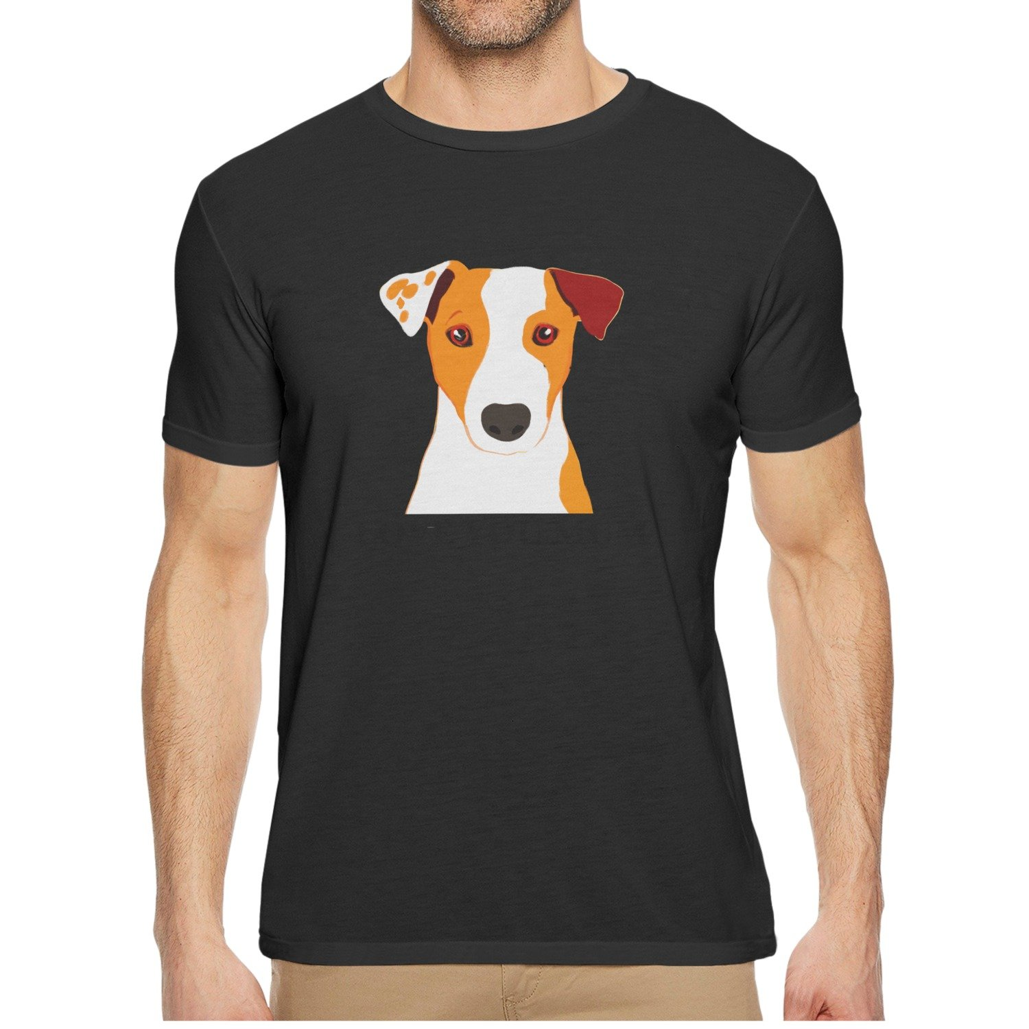 Qqppgg Jack Russell Terrier Dog 'Love You Mum' Coffee Mens Short Sleeve Breathable Shirts