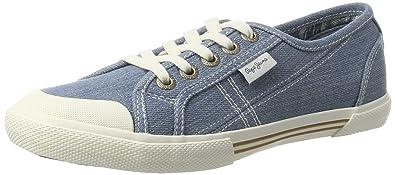 London, Sneakers Basses Femme, Bleu (Azzurro), 37 (EU)Pepe Jeans London