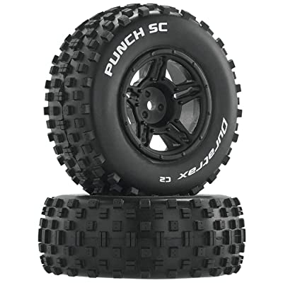 Duratrax Punch SC C2 Front Rear Mounted Tires: Slash 4x4 Blitz (2), DTXC3705: Toys & Games