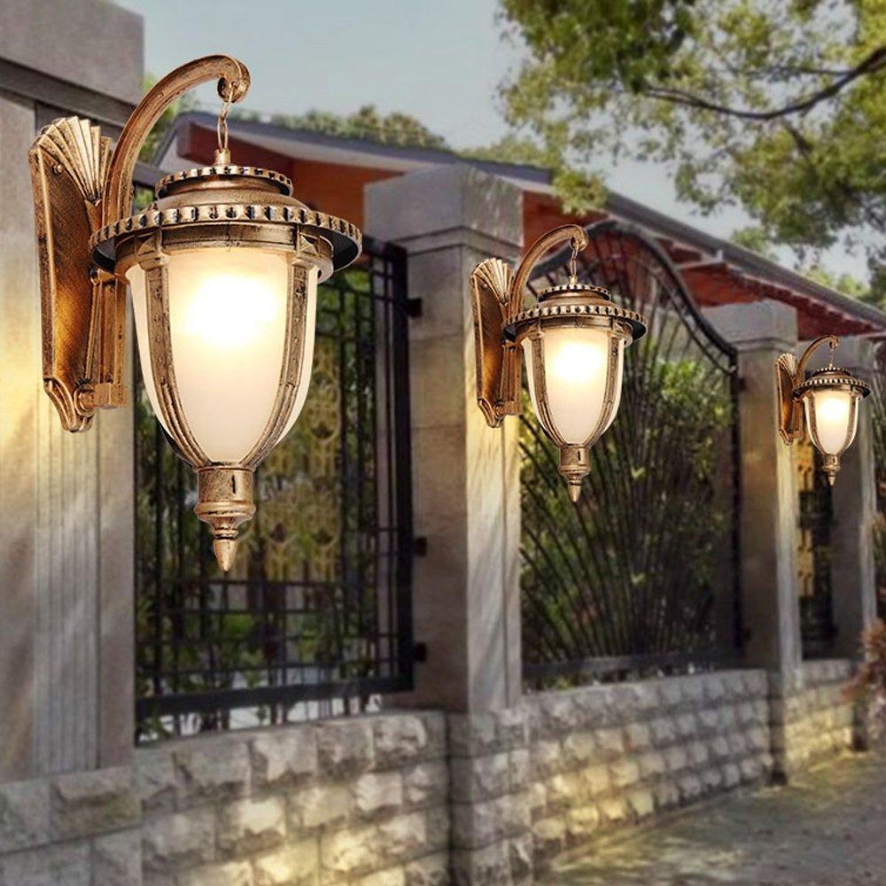 Modeen Clásico antiguo tradicional victoriano al al al aire libre linterna de pa rojo  de cristal jardín luz de la pa rojo  cuerpo negro Luminaria de metal Ip44 impermeable 1-Lights e27 decoración del patio de aluminio lámpara de pa  de80fd