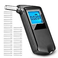 OMORC digitales Alkoholtestgerät mit 6Modi, Alkoholtester mit LCD-Display, hohe Präzision Test-Ergebnis (20Mundstücke enthalten)