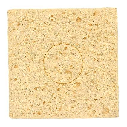 Esponja de limpieza de soldadura de la punta del soldador amarillo 1pc para 936