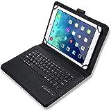 キーボード ケース タブレット 汎用 分離式 Bluetooth 7インチ 8インチ 9インチ 10インチ GALAXY HUAWEI Android iPad アイパッド キーボード 2018新型 iPad6 iPad5 iPad Pro9.7 Air2 mini1/2/3/4 キーボード付き (9~10インチ, 黒)