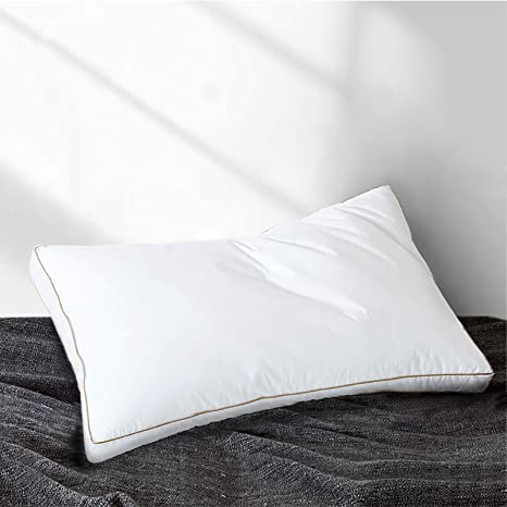 Amazon Com Yalamila Goose Down Feather Pillow Inserts For Sleeping Set Of 1 Standard Bed Pillow For Side Stomach And Back Sleepers Neck Pain Soft Home Kitchen