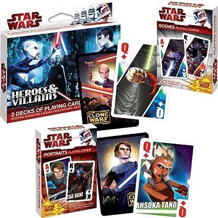 Amazon.com: Stars Wars/clone Wars Heroes and Villians Poker ...