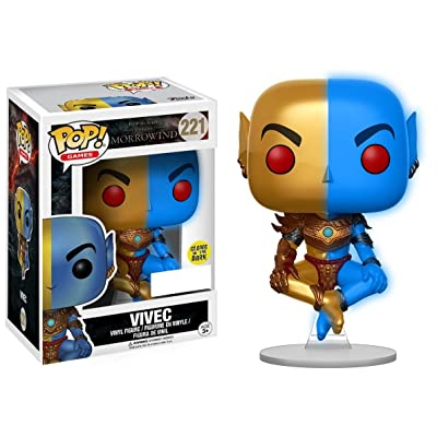 Funko Pop Vinyl The Elder Scrolls Morrowind Vivec Glow in The Dark Exclusive #221: Toys & Games